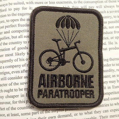 Airborne Paratrooper Bike MORALE BADGE USA TACTICAL MILITARY BADGES PATCH