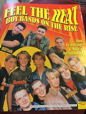 Feel The Heat Boy Bands On The Rise 2000 Poster Hanson BBMak Westlife C-Note