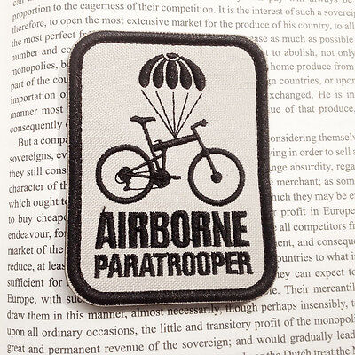 Airborne Paratrooper Bike MILSPEC 3D MORALE TACTICAL MILITARY BADGE PATCH
