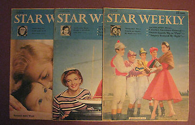 Star Weekly Vintage Magazine 1957 June/January/May