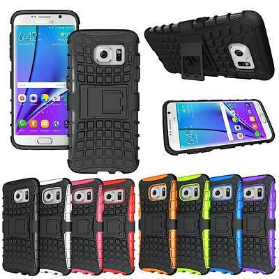 Heavy-Duty Hard Case Protection Armor Stand For Samsung Galaxy S7 Edge & Stylus