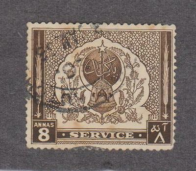 (UXWW011) PAKISTAN 1951  4th Anniversary of Independence 8 annas stamp used