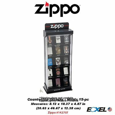 Zippo 15-pc Countertop Lighter Display Case, Lighters Not Included #142707