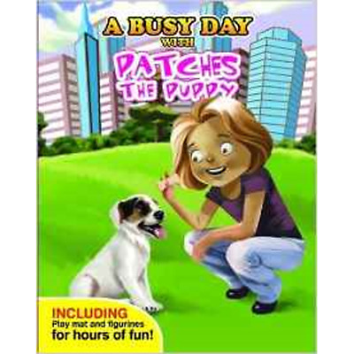 A Busy Day With Patches the Puppy  - book, figures & play mat