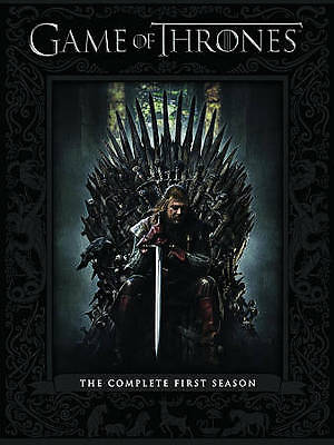 Game of Thrones: The Complete First Season (DVD, 2012, 5-Disc Set) BRAND NEW