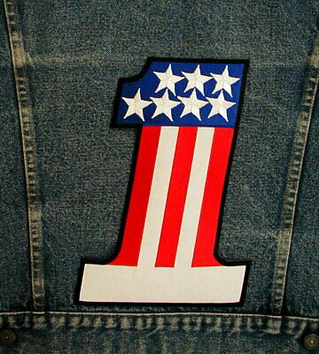 GIANT AMERICAN # 1 Biker Motorcycle Back Patch