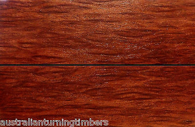 Rare Australian Birdseye Red Mahogany Wood Knife Scales (Bookmatched)