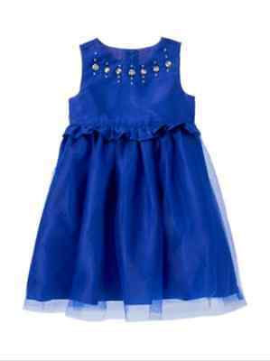 NWT Gymboree Best In Blue Size 3T 4T 5T Gem Tulle Dress Holiday Toddler  Girls