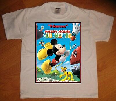 Mickey Mouse Clubhouse Custom Personaliz​e Birthday Party Favor Gift T-Shirt