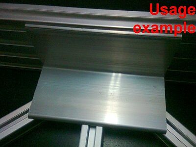 Aluminum T-slot profile blank elbow join angle support 60x60x4mm L120mm, 4-set