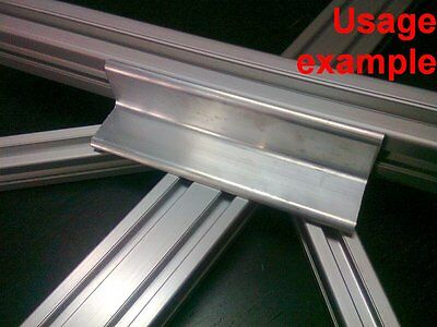 Aluminum T-slot profile blank elbow join angle support 30x30x4mm L120mm, 4-set