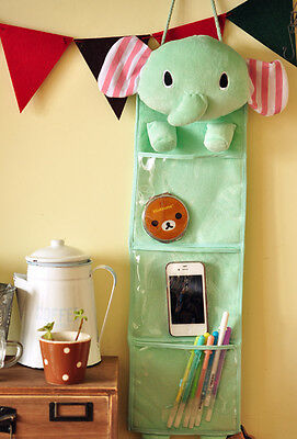 San-X Sentimental Circus Elephant Hanging Wall Storage Pouch Bag Organizer