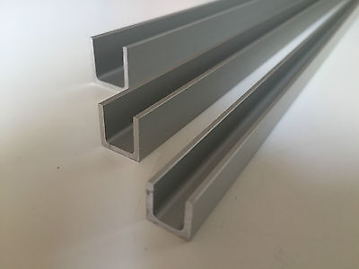 Aluminium U Channel Profile ANODIZED Various Sizes