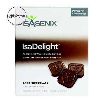 Isagenix IsaDelight Dark Chocolate Bar Gluten Free Supplement Food FREE POST