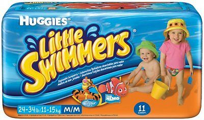 11-Count Huggies Little Swimmers Pack Swimpants Medium 24-34lb Tear Away Sides