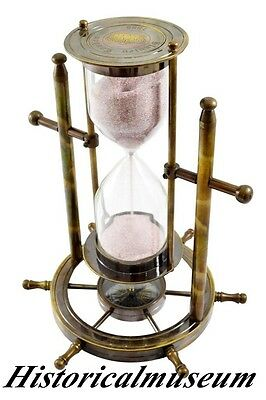 Compass Sand timer Hourglass Brass Nautical Marine Antique HUI85 Accessory gift