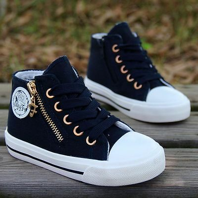 hot Children's sports shoes Boys girl canvas shoes High-top casual shoes