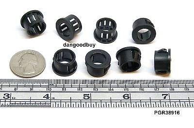 """Black Nylon Fits 3//4/"""" Opening 24 Snap-In Expandable Locking Plastic Grommets"""