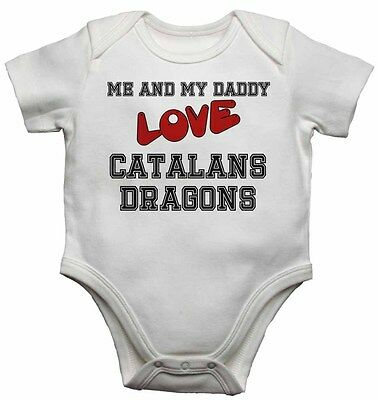 Me and My Daddy Love Catalans Dragons - Baby Vests Bodysuits for Boys, Girls