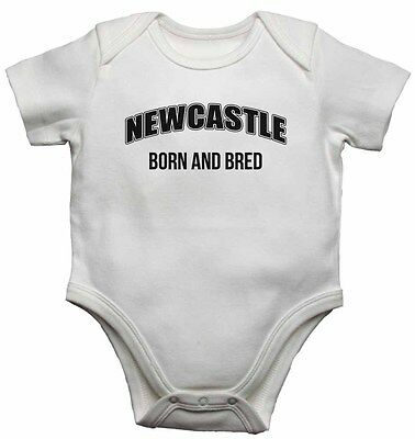 Born and Bred Funny Baby Grow Newcastle Brown Ale inspired Newcastle themed