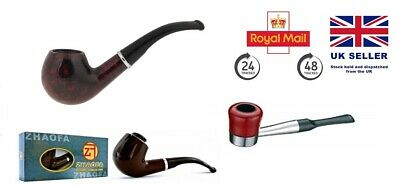 Smoking Wooden Look Pipe Haojue For Tobacco &Cool Quality Present