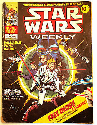 13 Star Wars Weekly UK Comics Including Issue Numbers 1 2 3 4 5 6 7 8 10