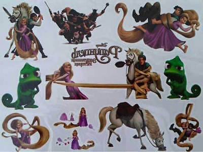 Temporary Tattoo RAPUNZEL Great for Party Bags Sheet size 11x15cm