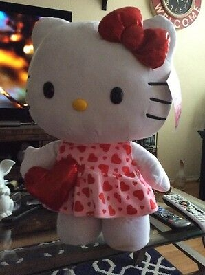 """NWT GIANT GEMMY Hello Kitty Valentines Plush 22"""" STANDS ALONE!"""