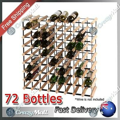 Timber Wine Rack 72 Bottle Timber Wine Rack Bottle Storage Organiser Stand