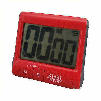 Red 99 Minute Magnetic Digital LCD Kitchen Timer Electronic Count Down Up IG