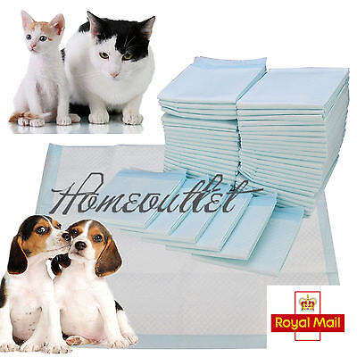 100 Large Puppy Training Trainer Pads Toilet Pee Wee Mats Poo Dog Pet Cat Sa