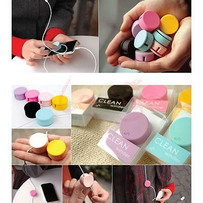 Colorful Earphone Headphone Cable Cord Winder Screen Cleaner for MP3 etc