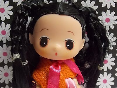 Adorable Unmarked China Japan Oriental Vinyl Doll In Cute Clothing