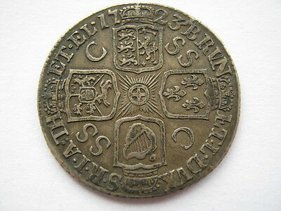 1723 SSC with C/SS Shilling, GF/VF. ACS