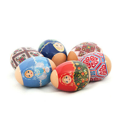 Russian Easter Shrink Egg Wraps/Sleeves/Sticker Matryoshka dolls and Ornaments