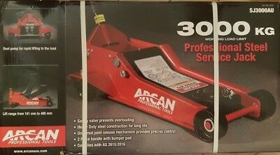 Arcan SJ3000AU Steel Floor Low Profile Race Car Trolley 3T Jack 3000kg PICK UP