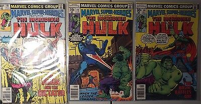 Lot of Three Marvel Super Heroes The Incredible Hulk Lot of 3 Issues #66 #71 #85