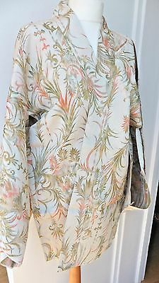 Vintage 1960s champagne coloured floral haori kimono jacket from Tokyo