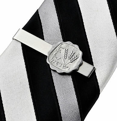 Israel Coin Tie Clip - Tie Bar - Tie Clasp - Business Gift - Handmade - Gift Box