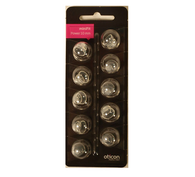 minifit Power 10mm Domes for Oticon and Bernafon Hearing Aids  - 10 Pack!