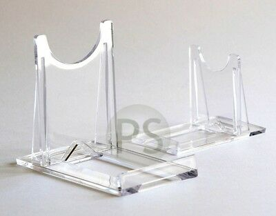 "Adjustable Twist Display Stand : Clear Plastic 2"" to 4""  Card, Photo, Print, DVD"
