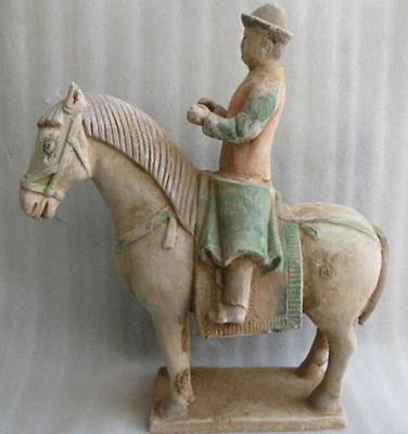 Equestrian statue unearthed tang sancai ceramics collection of ancient China