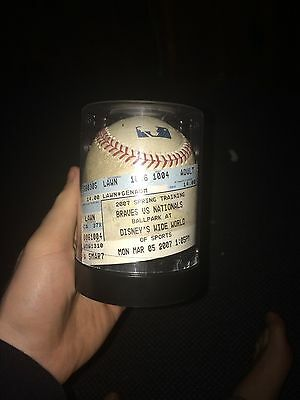 Major league Baseball, Game Used Home Run Ball. Amazing History Behind It.