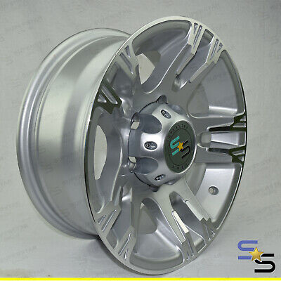"15"" (15x7) ""HERO"" SILVER MACHINE FACE 6 STUD LANDCRUISER ALLOY WHEEL TRAILER CAR"