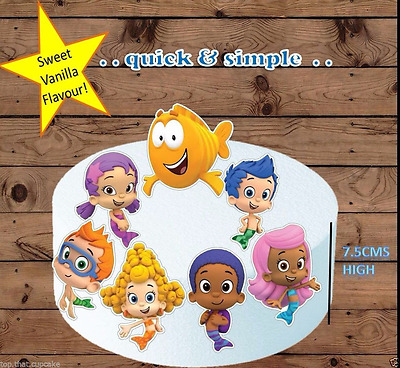 Bubble Guppies Large  Edible Wafer Cake Toppers Stand Up Pre-cut