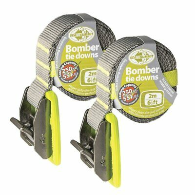Bomber 2m Tie Down Straps Pair Surfboards , Sit on Top Kayak Or Canoes on Cars