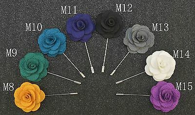 Buy 2 get 1 free stylish quality lapel flower mens suit brooch pin A no M4