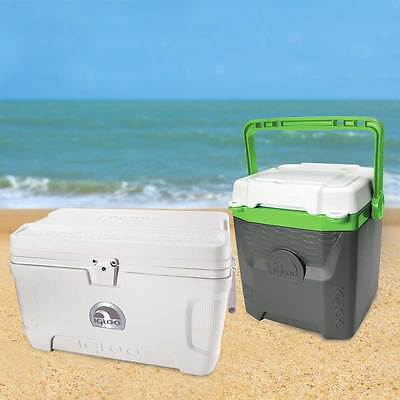 Igloo 54 Quart Marine Ultra Cool Box Ice Chest + Igloo 18 Quart Cooler 51 & 12 L