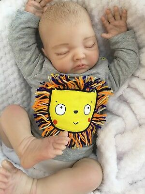 "Cherish Dolls New Reborn Doll Baby Boy Ben Fake Babies Realistic 22"" Big Newborn"