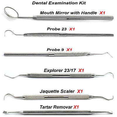 New Professional Range Of Student Examination Kit Calculus Removal Lab Tools  CE